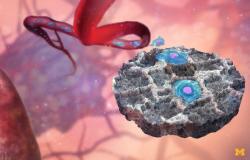 Kaprolaktonová past na sebe láká  jak bílé krvinky, tak i rakovinové buňky. Kredit: University of Michigan.