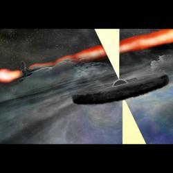 Objevili jsme vnitru Cygnus A novou supermasivní černou díru? Kredit: Bill Saxton, NRAO/AUI/NSF.