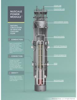 Modulární jaderný reaktor. Kredit: NuScale.