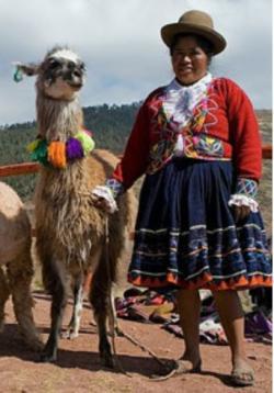 Typická domorodá Peruánka je o půl metru nižší než 183 centimetrů vysoká Uma Thurman.