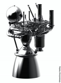 Vizualizace raketového motoru Prometheus na kapalný metan a kyslík. (Zdroj: ArianeGroup Holding)