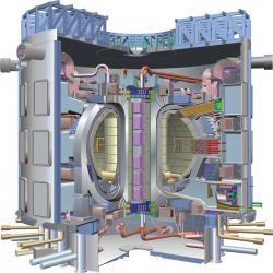Schéma budoucího termojaderného zařízení ITER (zdroj ITER)