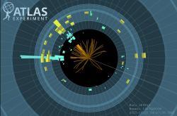 Rozkladová analýza H → bb na detektoru ATLAS. (Atlas/CERN)