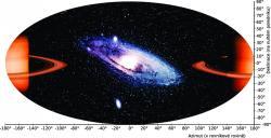 Obr 2:  Pohled do vesmíru ve slabé gravitaci. Kredit: P. Bakala.