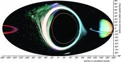 Obr 3: Výhled od nerotující černé díry. Kredit: P. Bakala.