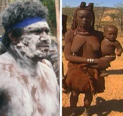 V tradicích domorodců tropických a subtropických oblastí se doposud zachovalo zdobení i ochrana těla barevnými jílovými pastami.