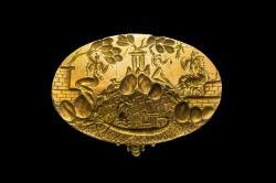 Tzv. Mínóův prsten z Knóssu, zlato, 1450 až 1400 před n. l. Kredit: Wikimedia Commons.