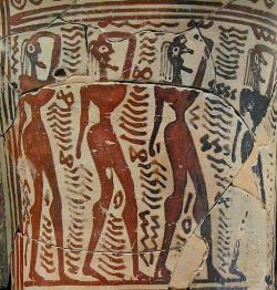 Plačky, 750-700 před n. l. Muzeum Kerameiku v Athénách. Kredit: Sharon Mollerus, Wikimedia Commons. Licence CC 2.0.