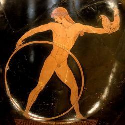 Ganymédés, 500–490 př. n. l. Louvre. Kredit: Berlin Painter via Bibi Saint-Pol, Wikimedia Common