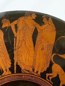 Dvoření, 500 př. n. l. Altes Museum Berlin. Kredit: Peithinos (via Zde), Wikimedia Commons