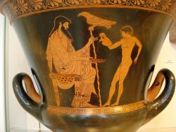 Zeus a Ganymédés, 490–480 př. n. l. Metropolitan Museum of Art, New York. Kredit: Eucharides Painter via David Liam Moran, Wikimedia Commons.
