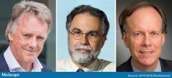 Fotky laureátov: Sir Peter J. Ratcliffe, Greg Semenza, a William G. Kaelin. Kredit: Nobelprize.org.