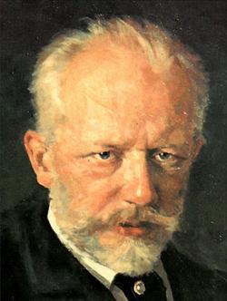 P.I. Čajkovský. Portrét z roku 1893 od Nikolje Dimitrieviče Kuzněcova. (Wikipedia,volné dílo)
