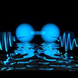 Skoro jako molekula zfotonů. Kredit: E. Edwards / JQI.