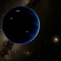 Máme ve Sluneční soustavě Devítku? Kredit: Caltech / R. Hurt (IPAC).