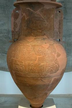 Velký reliéfní pithos z Mykonu. Kredit: Zde, Wikimedia Commons