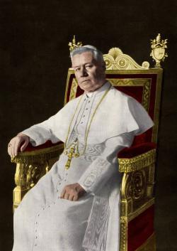 Příznivcem korsického lékárníka Marianiho a jeho produktu měl být  i  Pius X. (Kredit: Giuseppe Felici(1839-1923), Colored byJ-Ronn, Wikipedia, CC BY-SA 3.0)