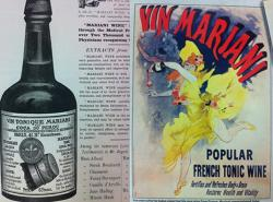 Jedna z dobových reklam na populární francouzké posilující víno s kokainem.
