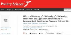 V Joel Bitmanově práci uveřejněné v roce 1971 časopisem Poultry Science se uvádí, že když byly křepelky krmeny DDT spolu s normálním množstvím vápníku, skořápky se jim neztenčily. doi.org/10.3382/ps.0500657