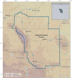 Oblast Powder River Basin. Kredit: USGS.