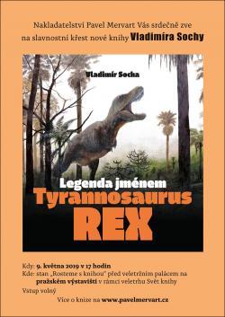 Autogramiáda knihyLegenda jménem Tyrannosaurus rex proběhne 9. května od 17 hodin v rámci veletrhuSvět knihyna pražském výstavišti a 13. května od 17 hodin na Hlavním nádraží v Pardubicích u knihkupectví Mozaika.