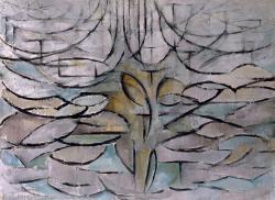 Piet Mondrian, Jabloň, 1912. Kredit: Gemeentemuseum Den Haag online catalogue via Wikimedia Commons.