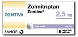 Zolmitriptanselectivně ovlivňujeserotoninové receptory subtypů 1B a 1D. Pod jmény Zomig a Zomigon v Kanadě a Řecku, jako  Asco Top v Německu , Zomigoro ve Francii a u nás jako Zolmitriptan-Zentiva, zbavuje trpící migrény.