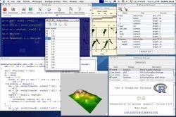 Screenshot zprogramu R