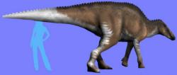 Rekonstrukce možného vzezření velkého ornitopodního dinosaura z kladu Styracosterna, pozdně křídového druhu Orthomerus weberae (či Riabininohadros weberae). V současnosti je tento dávný býložravec jediným formálně pojmenovaným taxonem neptačího dinosaura z území Ukrajiny. Kredit: Nobu Tamura; Wikipedie (CC BY-SA 4.0)