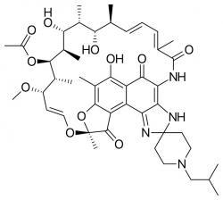 Rifabutin objevili vědci italské farmaceutické firmy Achifar v roce 1975.