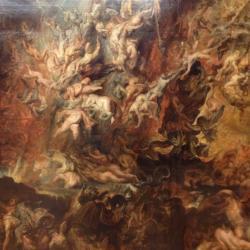 Pád do pekla v představě P.P. Rubense, Okolo r. 1620). Alte Pinakothek, Mnichov. Kredit: ARRAN Q HENDERSON.