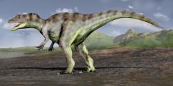 Představa o vzezření saurofaganaxe, obřího alosauridního teropoda, představujícího možná dominantního predátora v ekosystémech souvrství Morrison. Kredit: Nobu Tamura, Wikipedie (CC BY 3.0)