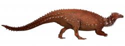 Moderní rekonstrukce vzezření vývojově primitivního ptakopánvého dinosaura druhu Scelidosaurus harrisonni. Tento menší příbuzný pozdějších ankylosauridů byl objeven již v polovině předminulého století, teprve v posledních několika letech však byl dostatečně podrobně prozkoumán. Jak se přitom ukázalo, mnoho podstatných informací o anatomii a paleoekologii tohoto dinosaura jsme dosud neznali. Kredit: Jack Mayer Wood; Wikipedie (CC BY-SA 4.0)