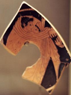 Svatební nebo milostná scéna z Athén, 530–520 př. n. l. Louvre, Paris. Kredit: Fotoarchiv autora.