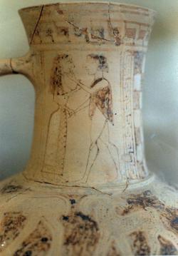 Théseus a Ariadné. Milenci alespoň jako mytologické téma, 675-640 př. n. l. Kredit: Zde, Wikimedia Commons.