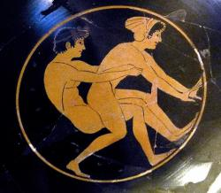 Muž a hetéra. Museo Archeologico in Orvieto. Kredit: Wolfgang Sauber, Wikimedia Commons.