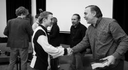 Seznámení před diskuzí (foto Andrea Malíková).