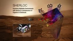 SHERLOC infografika NASA. Kredit: NASA.gov