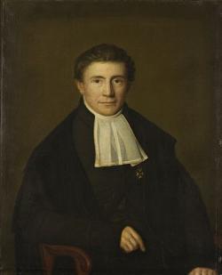 Sibrandus Stratingh (okolo roku 1850), Foto Jan van Wicheren, Kredit RUG museum, Wikipedia, volné dílo.