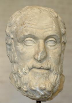 Karneadés, římská kopie sochy z athénské agory. Glyptothek Munich. Kredit: Bibi Saint-Pol, Wikimedia Commons.