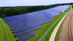 Solarpark Leibertingen, Německo. Kredit: EWB