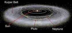 Sonda New Horizons bude jako první studovat objekty patřící do Kuiperova pásu (zdroj NASA).