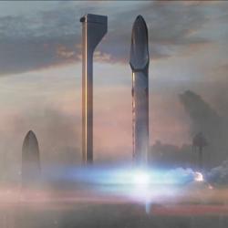 Elon Musk má vhledáčku Mars. Kredit: SpaceX.