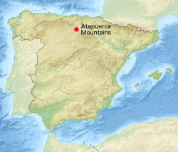 Atapuerca. Kredit: McortNGHH / Wikimedia Commons.