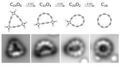 Jak vyrobit uhlíkový prsten? Kredit: IBM Research.