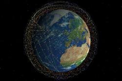Jednou zplánovaných megakonstelací satelitů je Starlink od SpaceX. Kredit: SpaceX.
