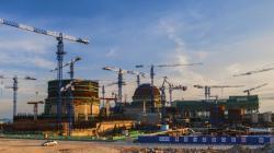 Stavba bloků Fu-čching 5 a 6 (zdroj Fuqing Nuclear Power Plant/CNNC).