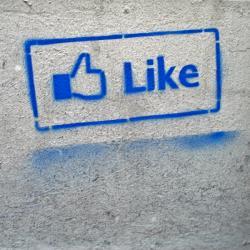 Pouliční umění vdobě Facebooku. Kredit: sofiabudapest/Flickr.
