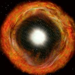 Ovlivnily naše předky exploze supernov. Kredit: NRAO / AUI / NSF.