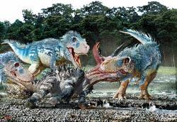 """Tyranosauři byli pravděpodobně aktivní lovci, schopní poměrně rychlého pohybu a delší výkonnostní zátěže (zejména v případě lehčích subadultních jedinců). Byli ale tito teropodi v klasickém """"savčím"""" smyslu teplokrevní? Kredit: Luis V. Rey, převzato se svolením z jeho blogu."""